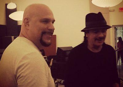 Performing with Carlos Santana